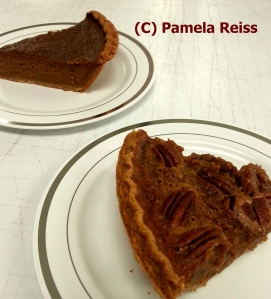 pecan pumpkin pie slices